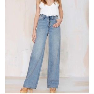 Nasty Gal Wide Strider Jeans